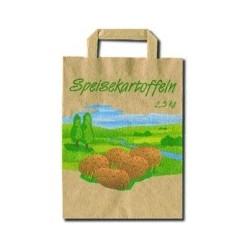 Tragetasche Papier braun 22+10x28cm Naturkraft 90g/m² Aufdruck Kartoffeln 2,5kg Karton á 250St.