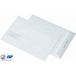 Briefumschläge B5 Weiß mit Fenster Haftklebend 500 Stück/Karton