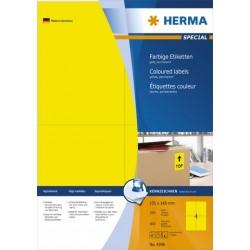 Etiketten 105x148mm sk gelb Herma 4396 Pckg. á 400 St.