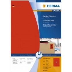 Etiketten 105x148mm Herma 4397 rot Pckg. á 400 St.