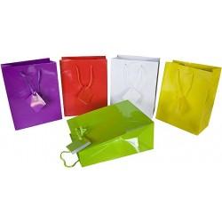 Geschenktaschen Papiertaschen 23x18x10 cm mit Kordeln 10er Pack