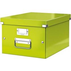 Archivbox A4 Click & Store Leitz mit Deckel 26,5x33,5x18,8cm Innenmaß maigrün hochglanz