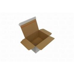 Kartons 235x180x130mm Automatikboden weiß hk Packbiene®Magic+ PBB5-W (100 Stück)