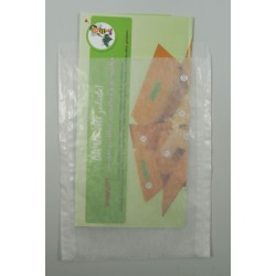 Papier-Flachbeutel transluzent 130x180+20mm 100 Stück