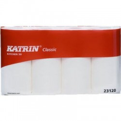 Küchenrollen Katrin 2lagig 50Blatt weiß / Pckg. á 4 Rollen