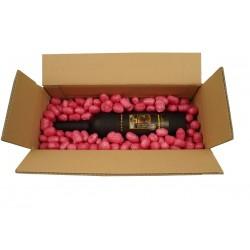 Weinrote Biobiene® Verpackungschips (200 Liter) im Spendekarton