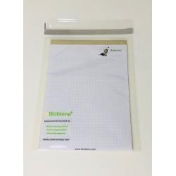Bio-Adhäsionsverschlussbeutel 160x220+40mm 30µm Biobiene® Ecomarine  transparent (100 Stück)