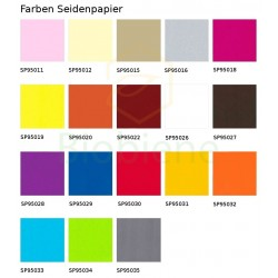 Seidenpapier Vanille Gelb Elfenbein 18g/m² Bogen 50x70cm nassfest Pckg á 480 Bogen
