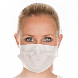 Mundschutz Papier/Tissue 2-lagig weiß mit Gummizug Einweg 100 St.