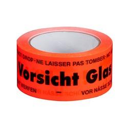 """Klebeband Packband """"Vorsicht Glas"""" 50mm x 66m (1 Rolle)"""