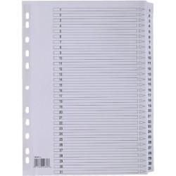 Register Karton 170g/m² 1-31 Eurolochung A4 31Bl. weiß