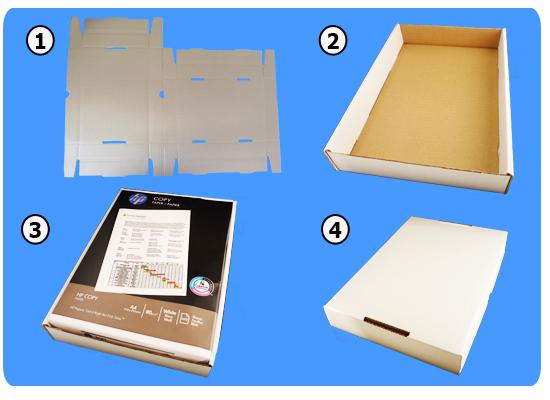 Stüldeckel Karton Weiss A4